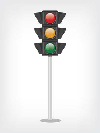 Traffic lights. Vector flat illustration Vector