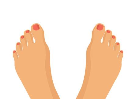 Vector feet flat illustration
