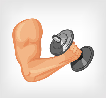 beefy: Hand of bodybuilder. Vector flat illustration Illustration