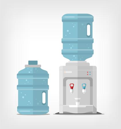 agua grifo: Enfriador de agua. Vector ilustración plana