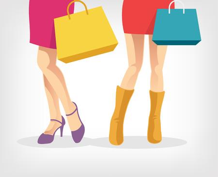 purchased: Woman feet vector flat illustration Illustration