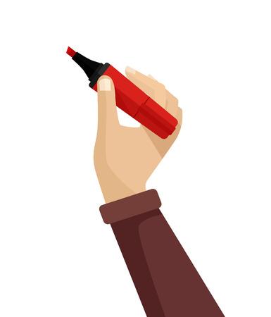 Scrittura della mano. Vector piatta illustrazione