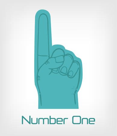 cheer leader: N�mero uno. Vector ilustraci�n plana Vectores