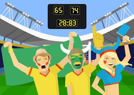 cheer: Fans vector flat illustration Illustration