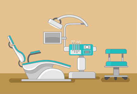 medical practice: Dentist office vector flat illustration