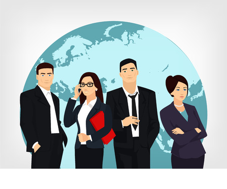 marketing team: Business team. Vector flat illustration Illustration