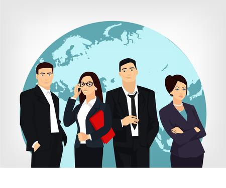Business team. Vector flat illustration Vettoriali