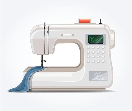 maquina de coser: M�quina de coser. Vector ilustraci�n plana;