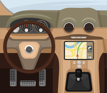 Salon de voitures. Vector illustration plat Banque d'images - 41917818
