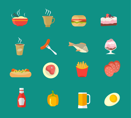 cheesecake: Vector food icon set Illustration