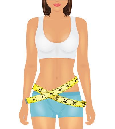 girl sport: Corpo della ragazza di sport. Illustrazione vettoriale