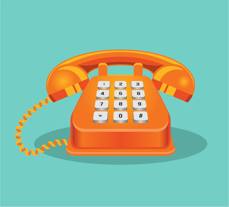 Vector telephone cartoon illustration