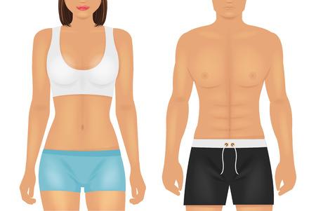 cintura: Vector cuerpo deporte ilustración