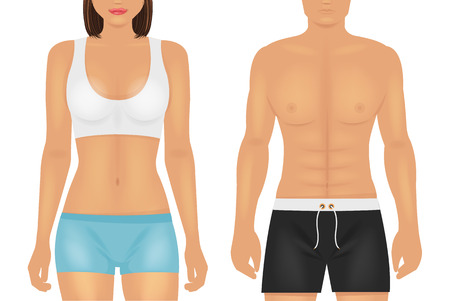 weight loss: Vector sport body illustration