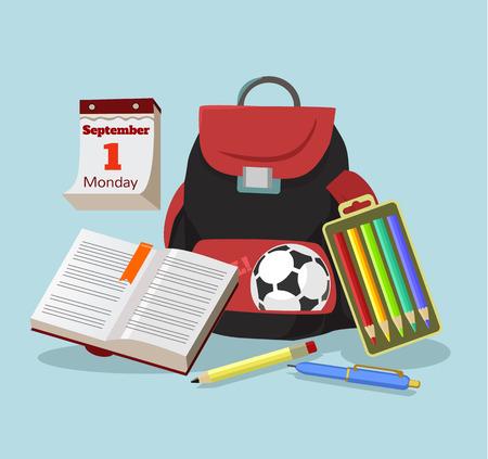vector studies: Education flat cartoon illustration Illustration