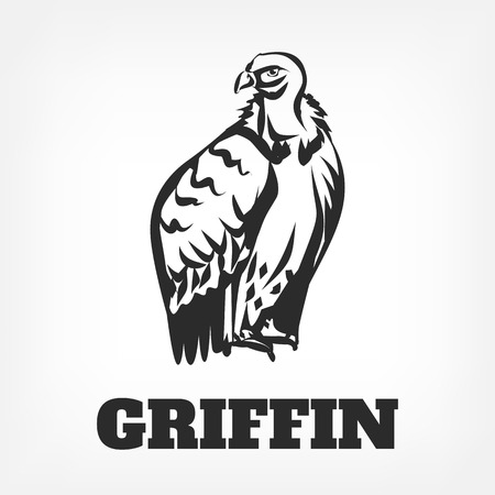 carrion: Bird vulture icon. Vector black outline icon illustration