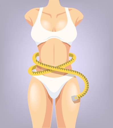 deportes caricatura: Ilustraci�n vectorial de dibujos animados de cuerpo deporte chica