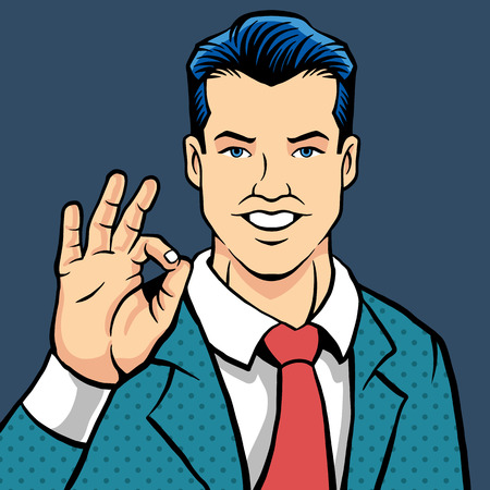 boss: man flat illustration Illustration