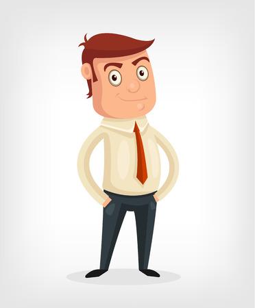 rant: Vector businessman flat cartoon illustration