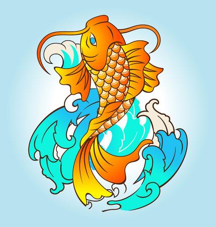 fish: Vector illustration of fish tattoo