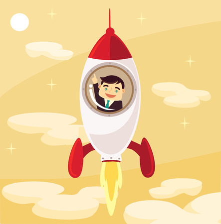 success business: Startup vector flat illustration