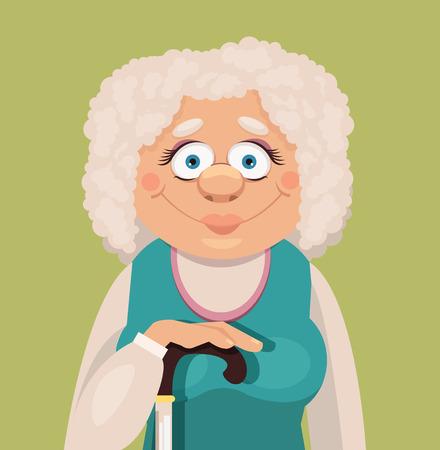 Vector grandmother flat illustration