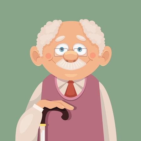 Vector grandfather flat illustration Vettoriali
