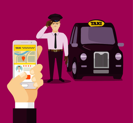 mobile app: booking taxi via mobile app