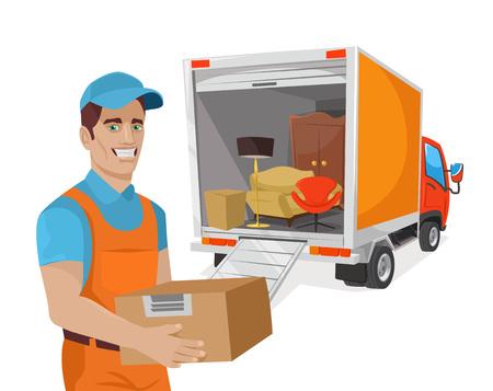 Vector delivery flat illustration Illustration