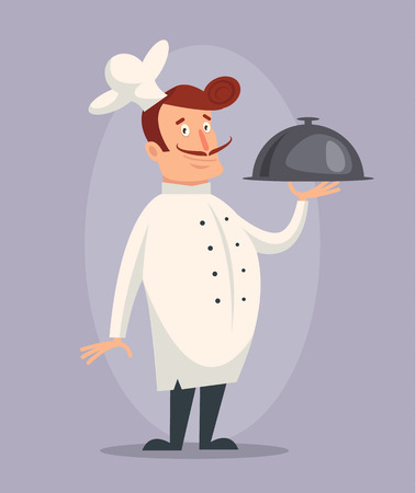 the cook: Vector cartoon cook flat illustration