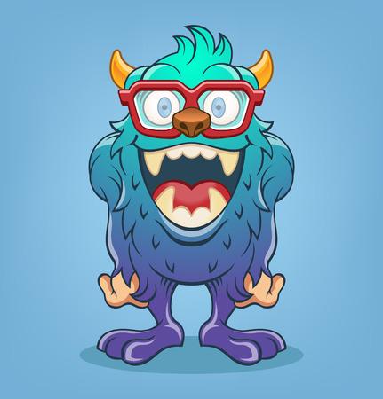 mutant: Vector monster cartoon illustration