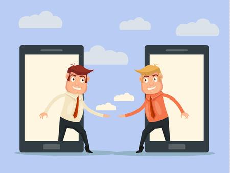 teamwork business: Communications concept. Vector flat illustration