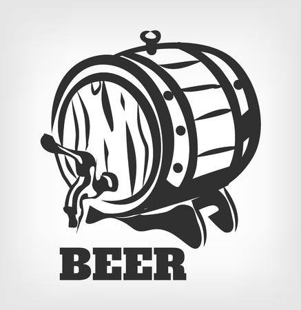 Vector brouwerij illustratie zwart pictogram Stock Illustratie