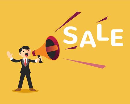announcement: Sale announcement. Vector flat illustration