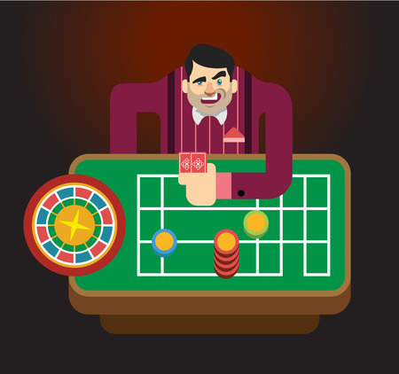 humbug: Croupier vector flat illustration
