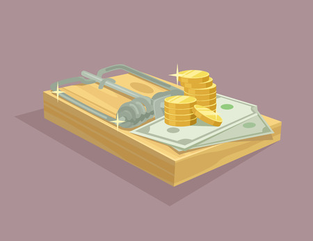 Money trap flat illustration Illustration