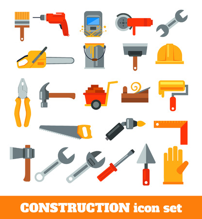 sander: Working tools for construction and repair flat icon illustration