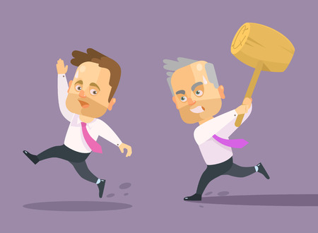 angry boss: Angry boss. Vector flat illustration