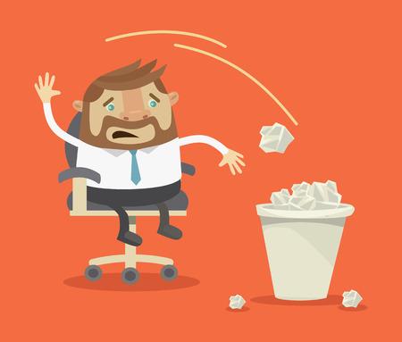 stress ball: Businessman have no idea. Vector flat illustration Illustration