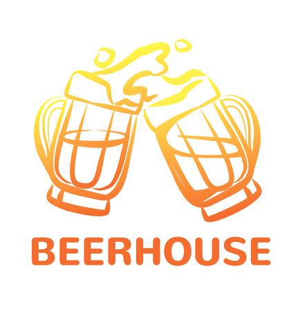 vasos de cerveza: Vector beer icon color illustration