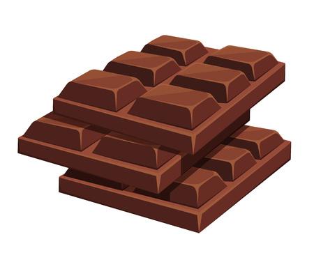 chocolatera: Barra de chocolate. ilustración de dibujos animados de vectores Vectores