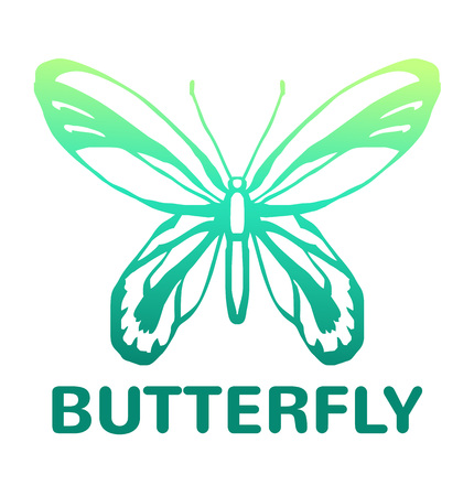 viceroy: Vector blue color butterfly icon illustration Illustration