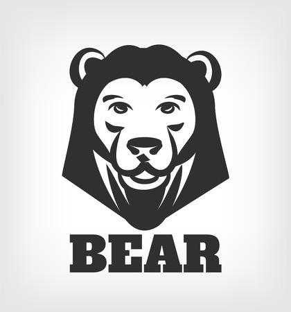 concise: Bear head vector black icon  illustration