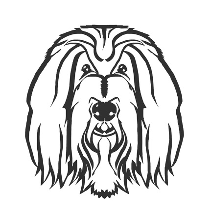 Dog head vector black icon illustration Vector Illustration