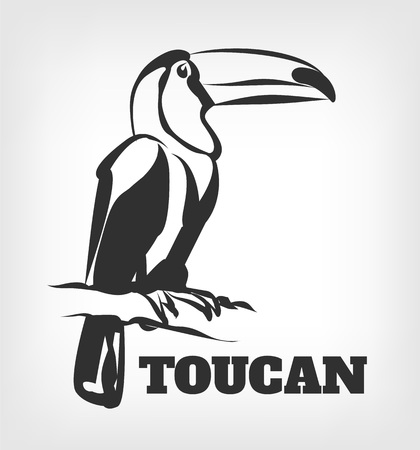 Toucan vector black icon  illustration Illustration