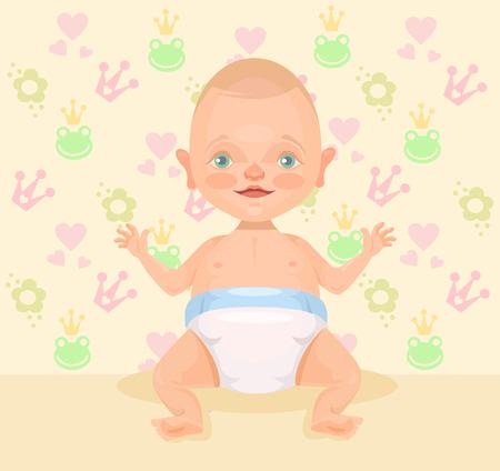 bebes lindos: Lindo beb�. Vector ilustraci�n plana