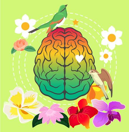 mentality: Creativity brain. Vector illustration