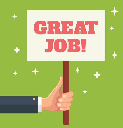 great job: Great Job. Vector flat banner illustration