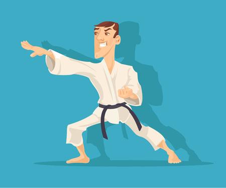 judo: Vector karate flat illustration