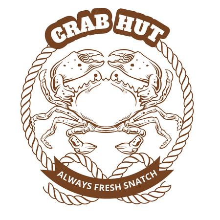 cancer crab: Crab Emblem. Vector illustration